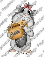 Digi Stamp -Cookie Meerie- colorierte Version + 1 digital Papier