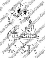 Digi Stamp - Grill Meerie - s/w Version