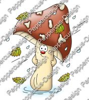 Digi Stamp - Sturm Pilz - colorierte Version