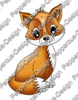 Digi Stamp - Fuchs - colorierte Version