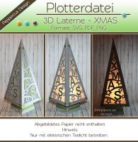 Plotterdatei - 3D Laterne - XMAS