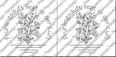 Digi Stamp Text - Frühlingsduft in s/w und color
