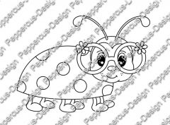 Digi Stamp - Käfer Kiki - s/w Version