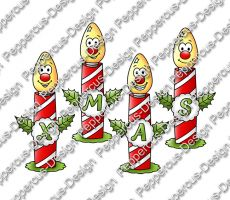 Digi Stamp - XMAS Kerzen - colorierte Version