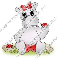 Digi Stamp -  Käfer Hippo - colorierte Version