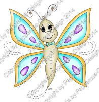 Digi Stamp - Schmetterling - colorierte Version