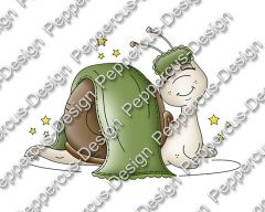 Digi Stamp - Schlaf Schnecke - colorierte Version