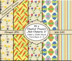 10 x Digital Papier - Set Ostern 3