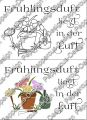 Digi Stamp Text - Frühlingsduft - in s/w und color