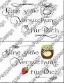 Digi Stamp Text - Süße Versuchung - in s/w und color