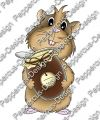 Digi Stamp - Meerie mit Schokocreme - colorierte Version