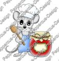 Digi Stamp - Maus mit Marmelade - colorierte Version