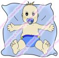 Digi Stamp - Baby Junge - colorierte Version