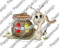 Digi Stamp - Bratwurst Schnecke - colorierte Version