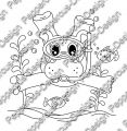 Digi Stamp - Tauch Hippo - s/w Version