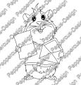 Digi Stamp - Meerie mit Brief - s/w Version