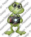 Digi Stamp - Frosch mit Kamera - color Version + 1 digi Papier