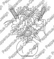 Digi Stamp - Blumenstrauß - s/w Version