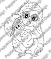 Digi Stamp - Igel mit Pilz - s/w Version