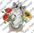 Digi Stamp - Meerie mit Mohnblumen - colorierte Version