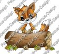 Digi Stamp - Fuchs mit Stamm - colorierte Version
