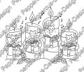 Digi Stamp - Singende Kerzen - s/w Version