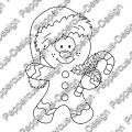 Digi Stamp - Lebkuchenmann - s/w Version