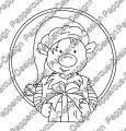 Digi Stamp - Weihnachtself 1 - s/w Version