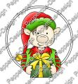 Digi Stamp - Weihnachtself 1 - colorierte Version