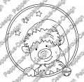 Digi Stamp - Weihnachtself 2 - s/w Version