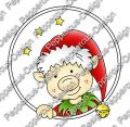 Digi Stamp - Weihnachtself 2 - colorierte Version