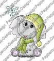 Digi Stamp - Elefant mit Schneeflocke - colorierte Version
