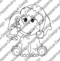 Digi Stamp - Elefant mit Glocke - s/w Version