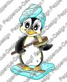 Digi Stamp - Bade Pinguin - colorierte Version