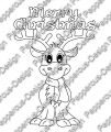 Digi Stamp - Rentier - Merry Christmas - s/w Version