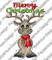 Digi Stamp - Rentier - Merry Christmas - colorierte Version