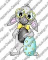 Digi Stamp - Nerd-Hase mit Ei - colorierte Version