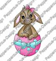 Digi Stamp - Hase im Ei - colorierte Version