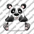 Digi Stamp - Schildchen Panda - colorierte Version