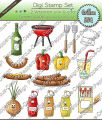 Digi Stamp Set - Grillen-BBQ - 10 Motive in s/w & color