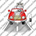 Digi Stamp - Auto Meerie - colorierte Version