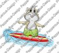 Digi Stamp - Surfer Meerie - colorierte Version