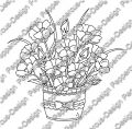 Digi Stamp - Blumen Arrangement 2 - s/w Version