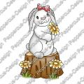 Digi Stamp - Hase auf Baustamm - colorierte Version
