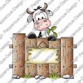 Digi Stamp - Kuh hinter Zaun - colorierte Version