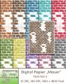 10 x digital Papier - Mauer - Farb-Set 2
