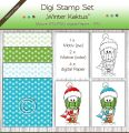 Digi Stamp Set - Winter Kaktus + digital Papier