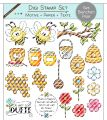 Digi Stamp Set - Bienchen Paar - Motive + Papier + Text