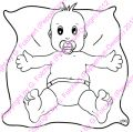 Digi Stamp - Baby Junge - s/w Version