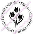Digi Stamp Text - Frohe Ostern - Tulpen